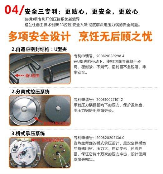 格兰仕ya601e电压力锅6l机械智能