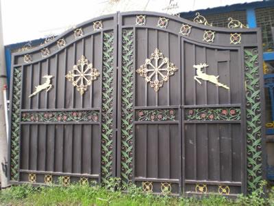 铁艺大门_产品展示_四川省泸州市世杰金属制品有限公司