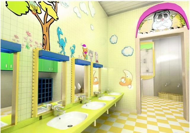 幼儿园卫生间6步洗手法步骤图