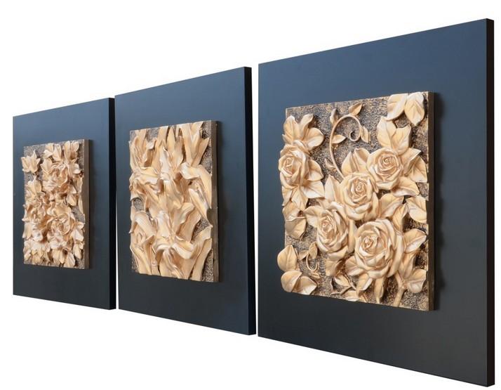 无框画现代工艺画立体画   精美浮雕装饰画,采用环保材料纯手工彩绘