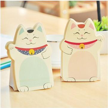 韩国可爱创意招财猫便利贴可粘贴便笺纸可撕n次贴便条