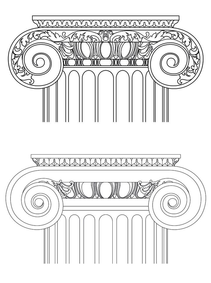 罗马柱柱头图片