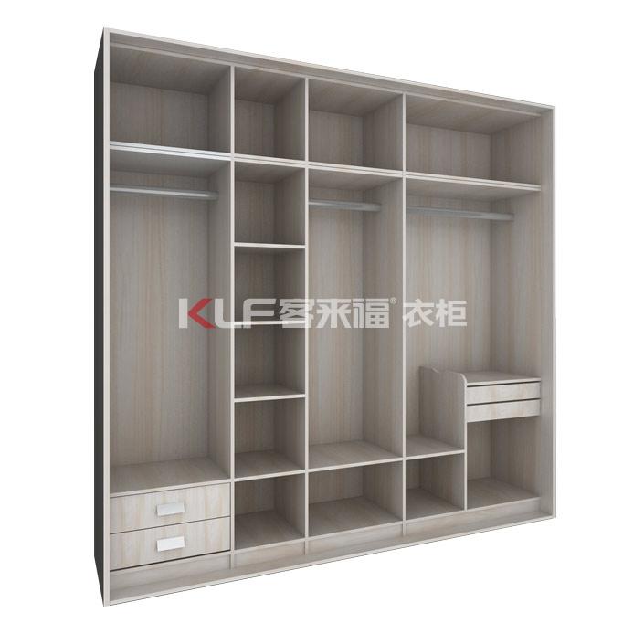 KLF客来福实木颗粒板整体定制衣柜卧室衣柜