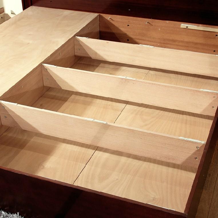 卧室 米高/小窗中式仿古现代卧室实木家具双人床1.8米高箱储物床