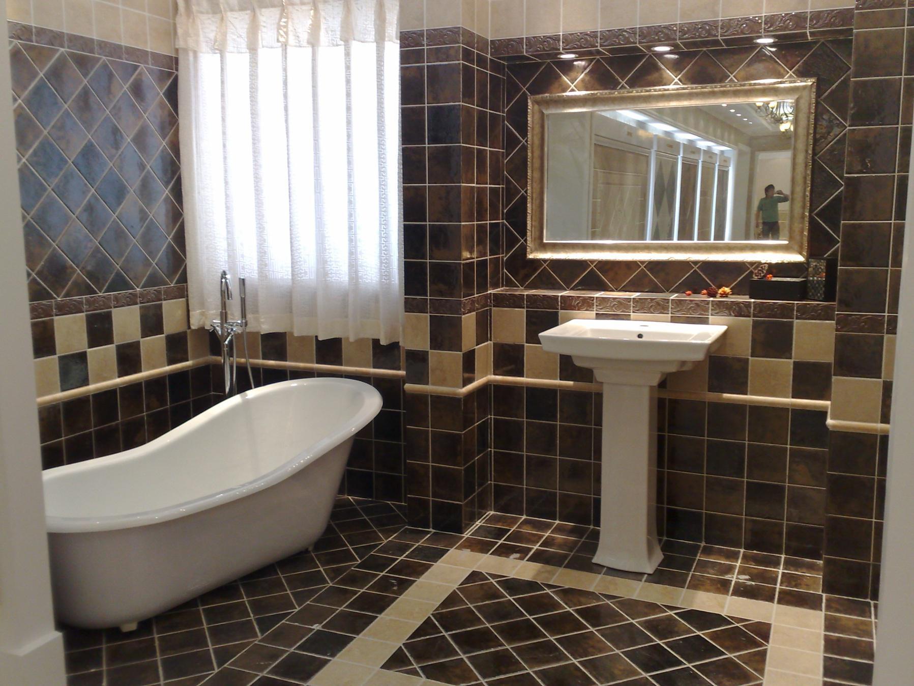 欧式卫生间装修复古砖