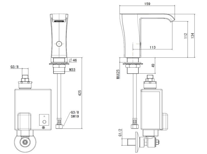 faucet (nobile) 产品型号:cf-8807 产品描述: 红外线控制,即感应即出