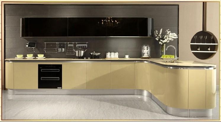 欧派整体橱柜定制定做l型欧式风格厨房橱柜设计装修巴比伦