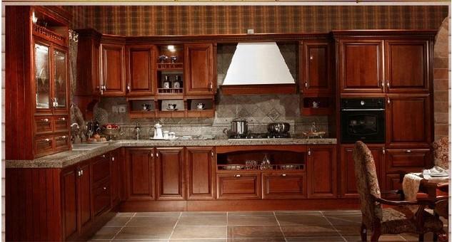 欧派整体橱柜定制定做一字形欧式古典厨柜厨房曼托瓦