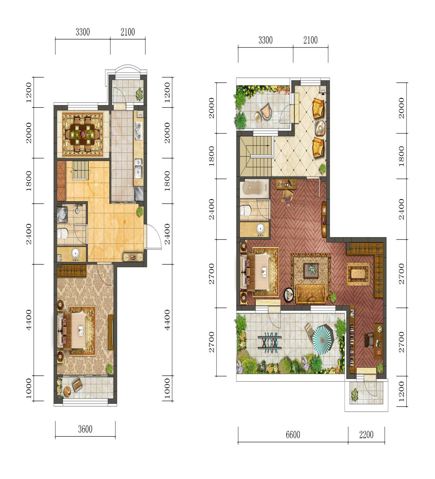 30平复式楼小户型图片设计图展示