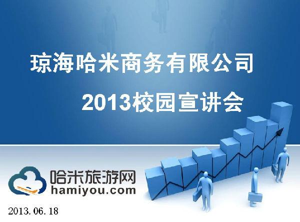 软召开2013校园宣讲会  海哈米商务有限公司2013校园宣会ppt首页截图