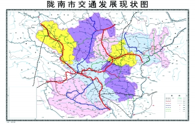 陇南至定西市高速地图内容|陇南至定西市高速地图版面设计