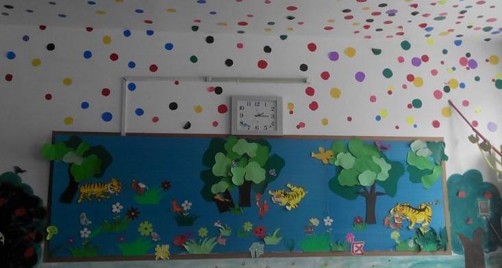 金乡县附小幼儿园举行了墙饰展示评比活动