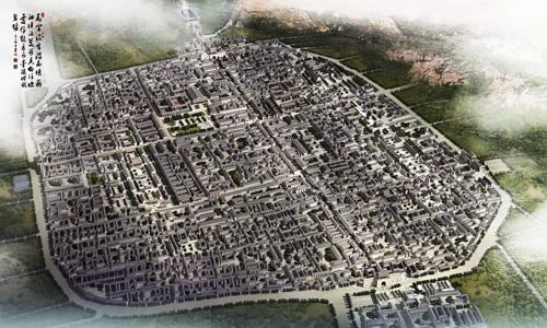 古城区规划效果图