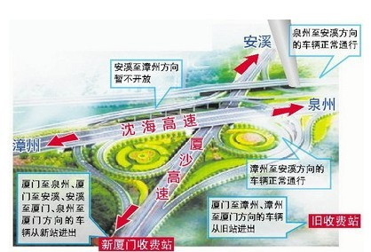 厦沙高速规划�_厦沙高速公路厦门收费站于8月31日起启用