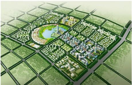 武清新城商务区位于武清西北部 整体规划 一核心六组团