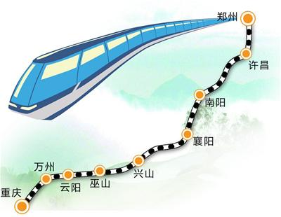 郑渝高铁规划图.王小雁/制-宜昌境内拟再建4条对外铁路