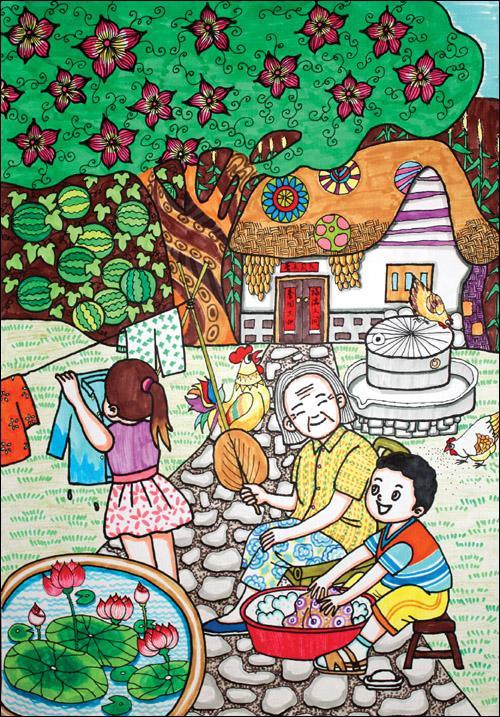 幼儿园爱国绘画作品