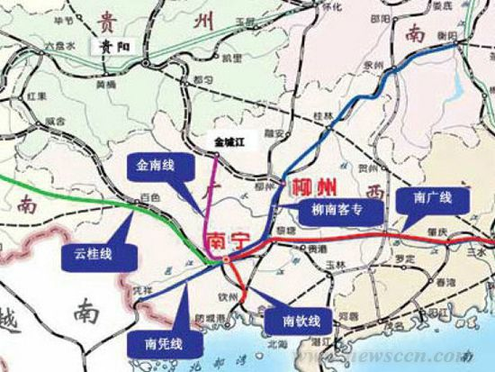 广西境内高铁线路图_