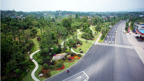 收费站节点及邮政广场绿化景观品质提升工程均已全