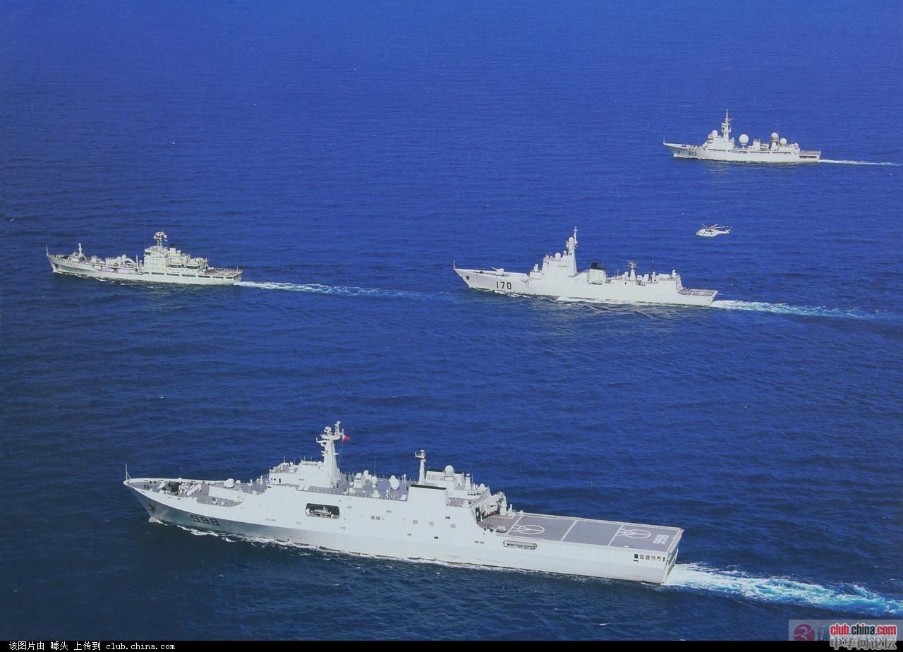 中国军舰逼停美军舰 因其监视航母_乐乐简笔画