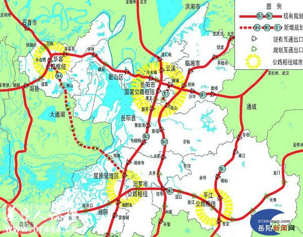 安乡高速路地图