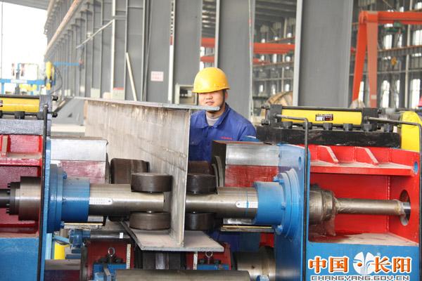 钟宜钢构长阳钢结构加工项目重钢生产线顺利竣工