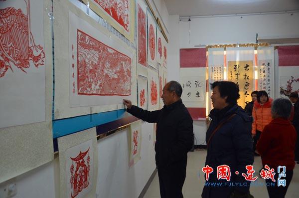 连城莒溪镇:书画展览迎新春图片