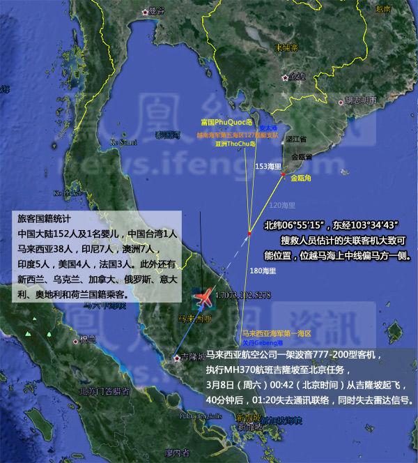 马来西亚航空公司一架mh370飞机失联