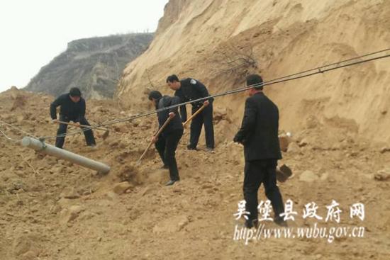张家山镇全力抢修,快! by 吴堡县政府网图片