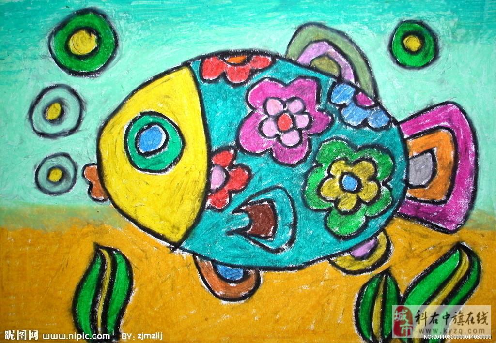 简笔儿童画:线描涂鸦,蜡笔画