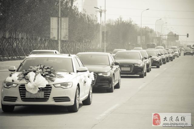 最新款奥迪a6l婚礼礼宾车队