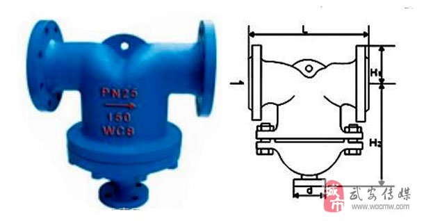 a类是挡板式汽水分离器,适用于饱和蒸汽或压缩空气中的蒸汽和水的
