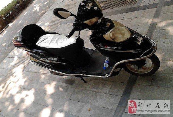 郑州碧沙岗  卖一辆中国轻骑踏板