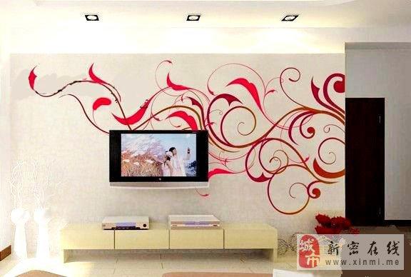 十字绣;客厅,电视背景墙墙绘及其他
