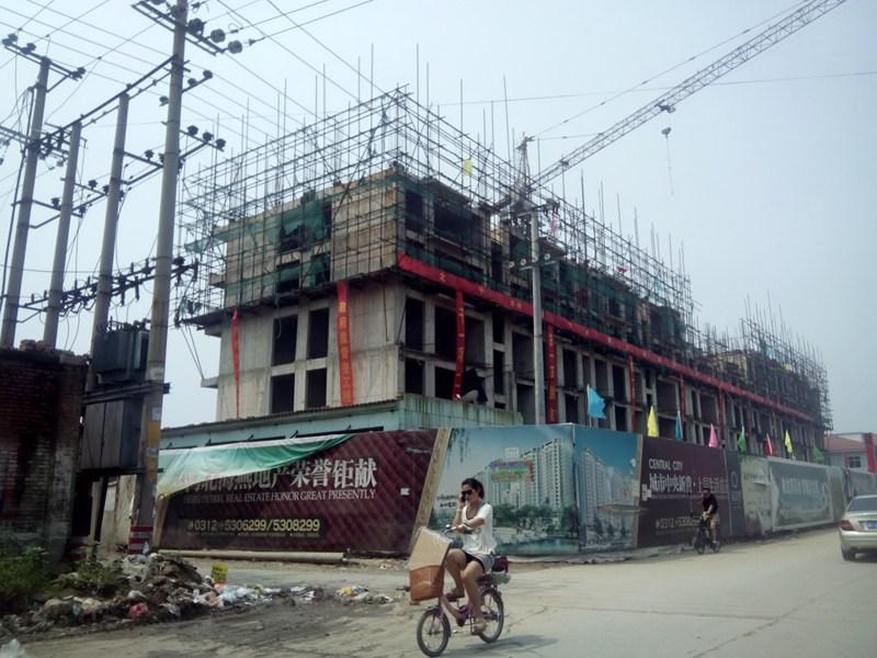蓝香湾已重整旗鼓开始新的建筑过程