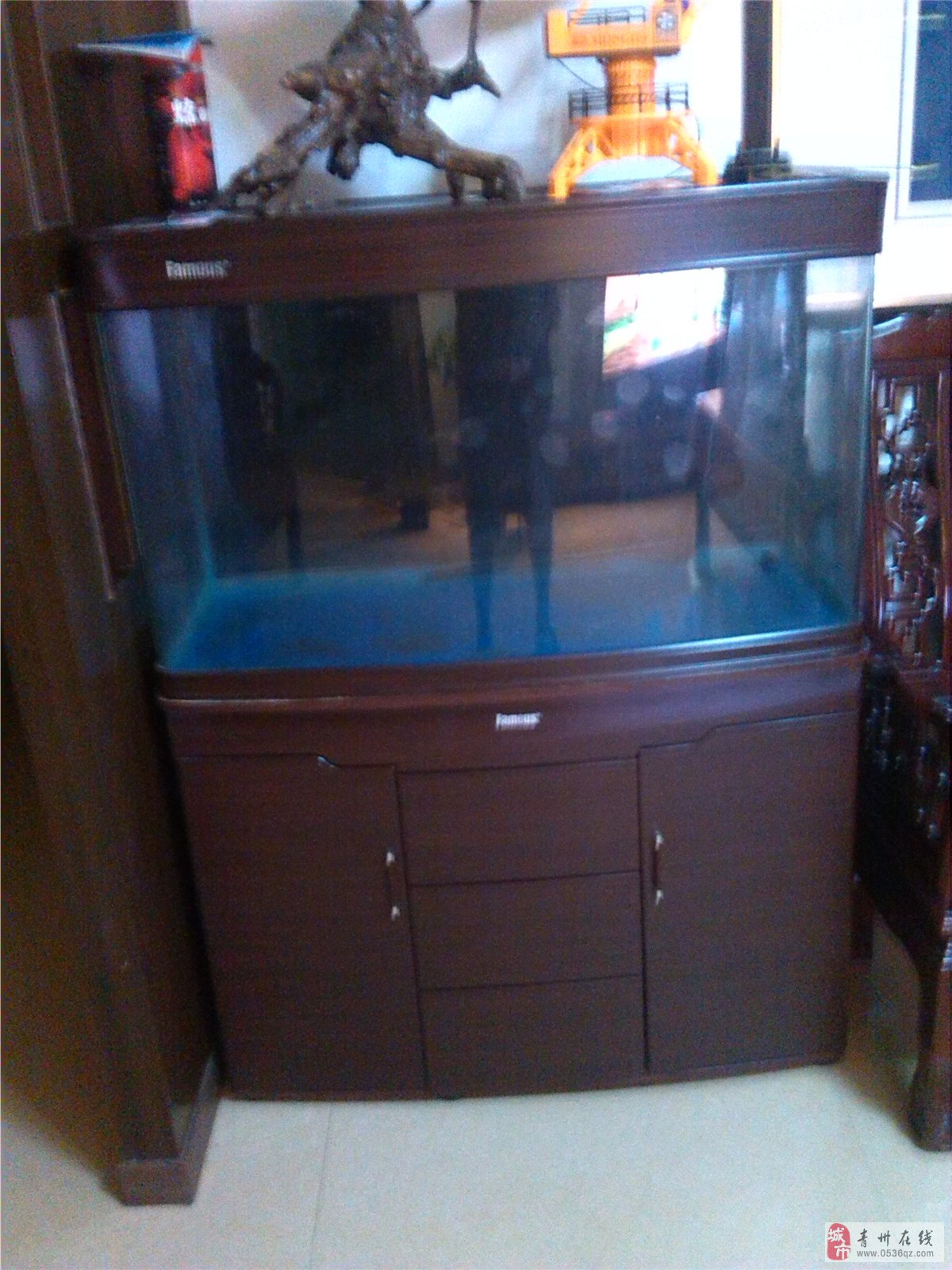 出售2手生态鱼缸+外置滤筒9成新