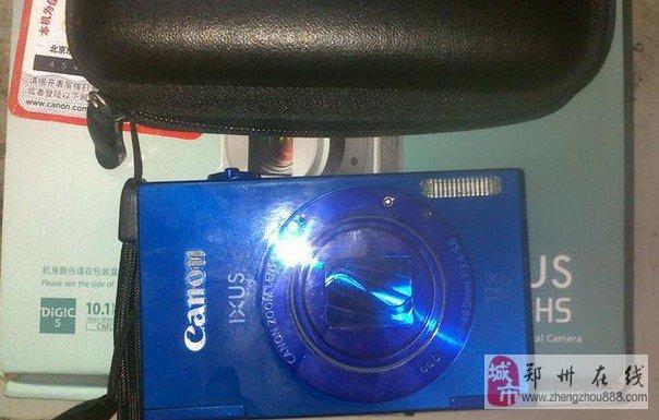 佳能蓝色数码相机IXUS500HS九九新转让
