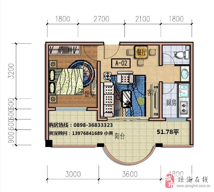 两居室房屋设计图展示
