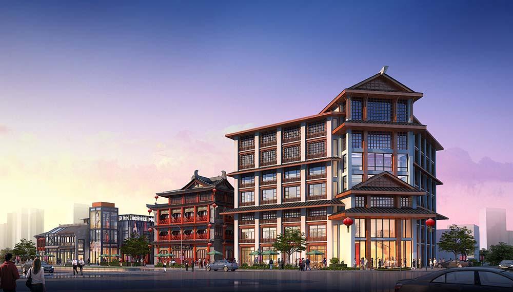 费县东周商业街仿古建筑群 历史和文化的完美传承