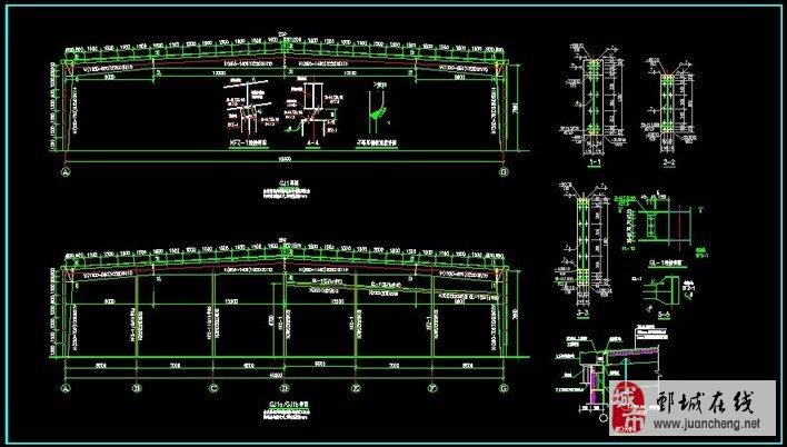钢结构的拆图详图设计图纸深化