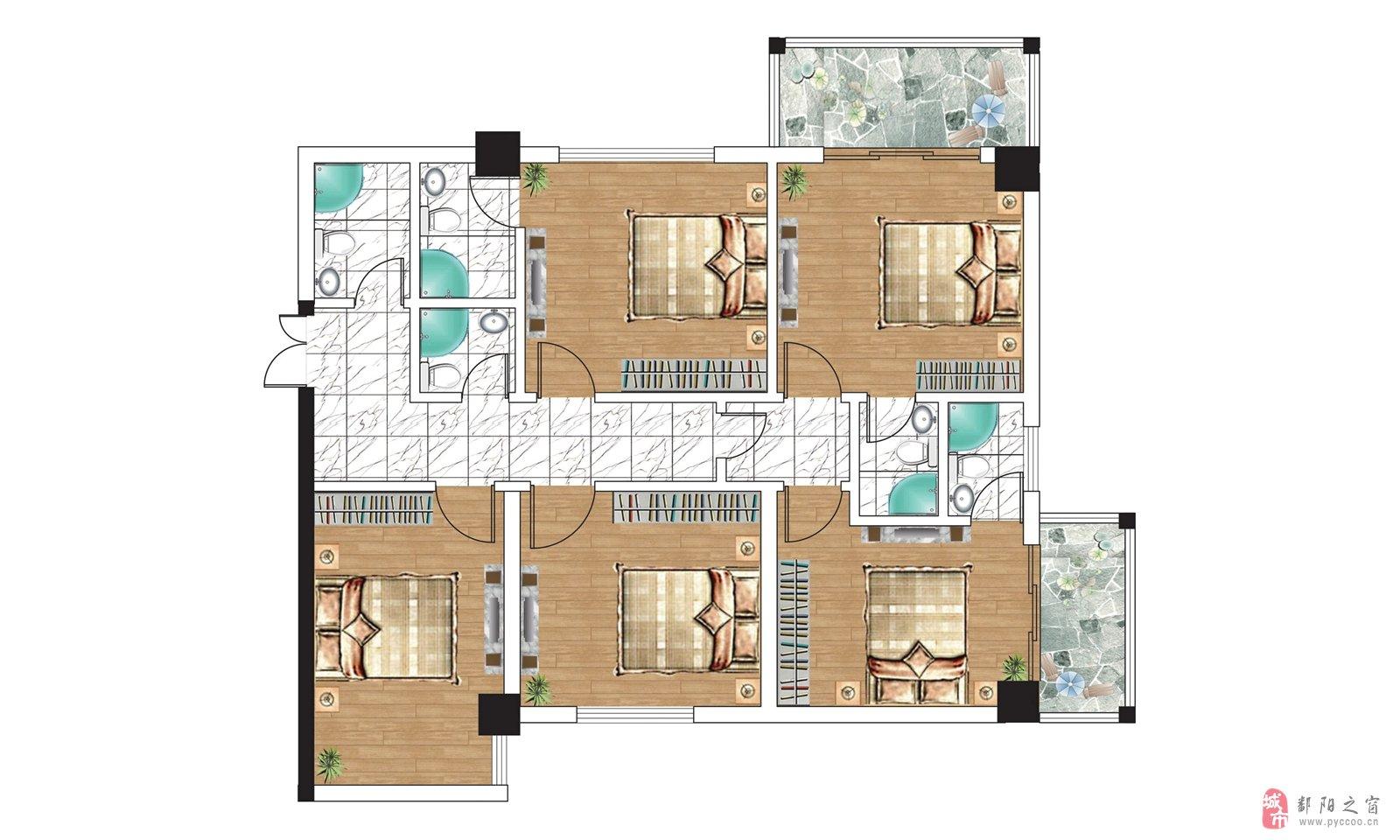 农村七字形房屋平面设计图大全展示