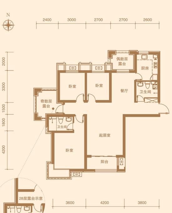 金屋·秦皇半岛户型图