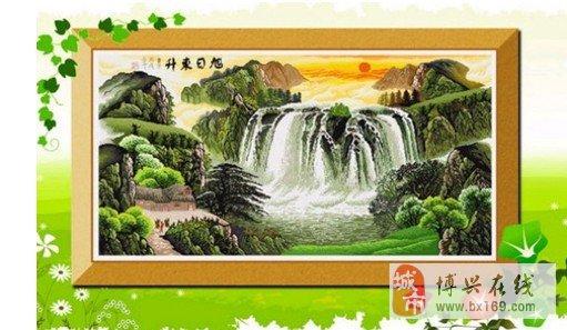 旭日东升十字绣是一幅山水画