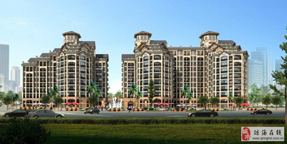 """由公司承建的""""碧海云天""""居住小区,新颖的设计,小型的面积,较低的房价"""