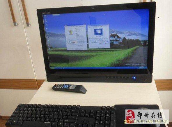 郑州转让24寸LED屏带电视遥控器一体机电脑