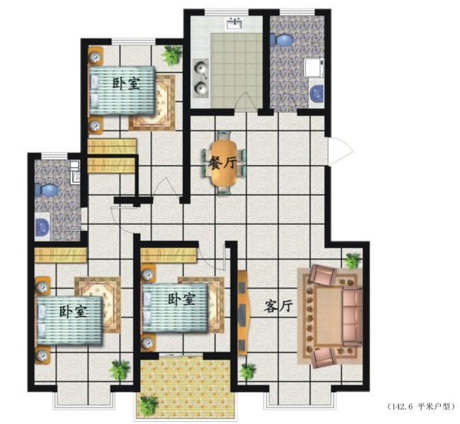10x12房屋设计图纸展示