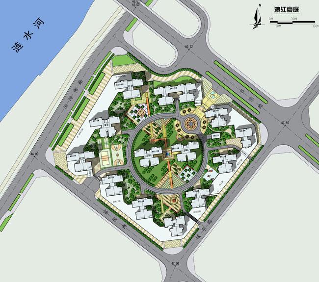 滨江 手绘平面图