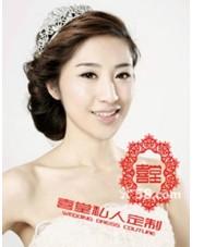 喜堂私人婚纱定制-新娘跟妆