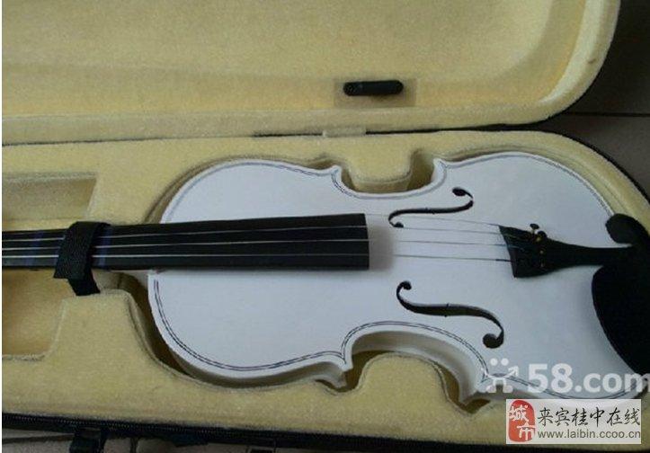 小提琴白色4/4大小图片