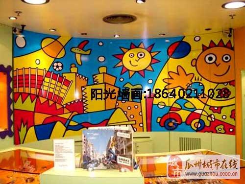 幼儿园手绘墙面城市图画